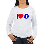 DOT ARTS Custom Monograms Women's Long Sleeve T-Sh