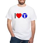 DOT ARTS Custom Monograms White T-Shirt