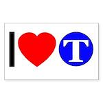DOT ARTS Custom Monograms Sticker (Rectangle 10 pk