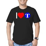 DOT ARTS Custom Monograms Men's Fitted T-Shirt (da
