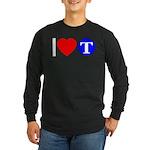 DOT ARTS Custom Monograms Long Sleeve Dark T-Shirt