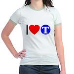 DOT ARTS Custom Monograms Jr. Ringer T-Shirt