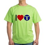 DOT ARTS Custom Monograms Green T-Shirt