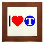 DOT ARTS Custom Monograms Framed Tile