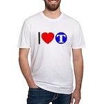 DOT ARTS Custom Monograms Fitted T-Shirt