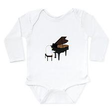 Concert Pianist Long Sleeve Infant Bodysuit