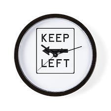 Keep Left Wall Clock