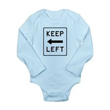Keep Left Long Sleeve Infant Bodysuit