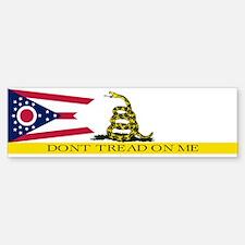 Dont Tread on Me Ohio Flag Bumper Bumper Sticker
