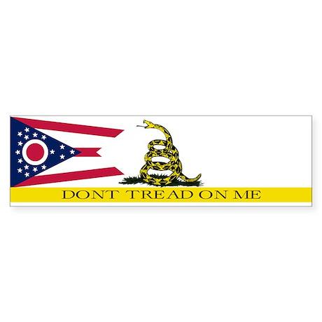 Dont Tread on Me Ohio Flag Sticker (Bumper)
