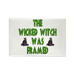 Wicked Witch Was Framed Rectangle Magnet (10 pack)