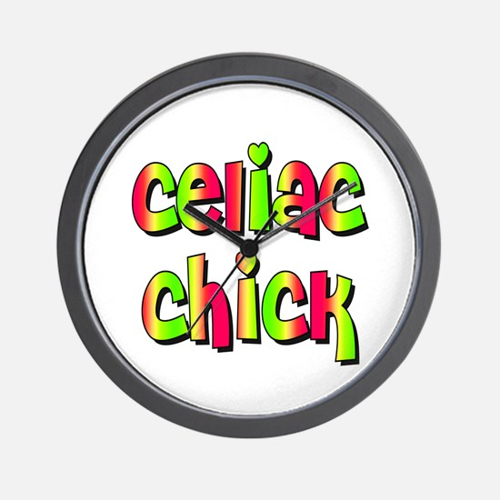 Celiac Chicks Wall Clock