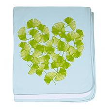 Ginkgo Leaf Heart Infant Blanket
