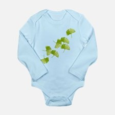 Ginkgo Leaves Long Sleeve Infant Bodysuit