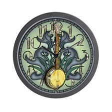 Bluegrass Banjo Wall Clock