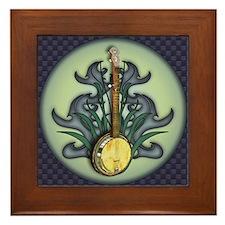 Bluegrass Banjo Framed Tile