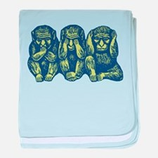 See Hear Speak No Evil Monkey Infant Blanket