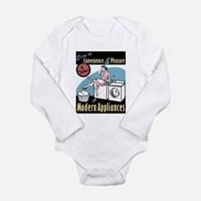Retro Modern Appliances Long Sleeve Infant Bodysui