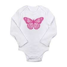Pink Butterfly Long Sleeve Infant Bodysuit