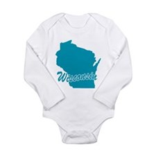 State Wisconsin Long Sleeve Infant Bodysuit