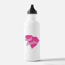 Pink South Carolina Water Bottle