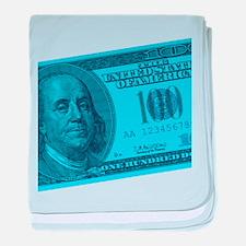 Blue Hundred Dollar Bill Infant Blanket