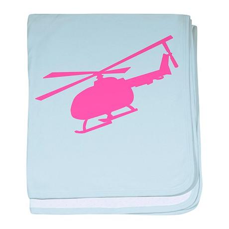 Pink Helicopter Infant Blanket