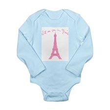I'll See You in Paris Long Sleeve Infant Bodysuit