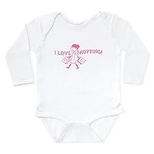 I Love Shopping Long Sleeve Infant Bodysuit