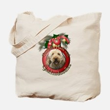 Christmas - Deck the Halls - GoldenDoodles Tote Ba