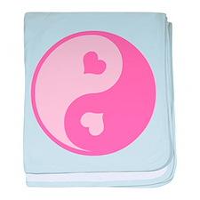 Pink Yin Yang Symbol Infant Blanket