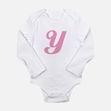 Y Initial Long Sleeve Infant Bodysuit
