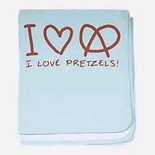 I Love Pretzels Infant Blanket