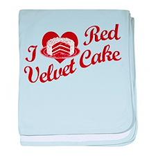 I Love Red Velvet Cake Infant Blanket