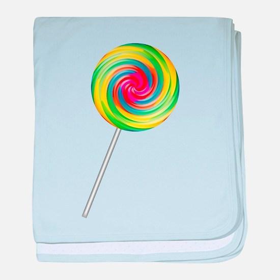 Swirly Lollipop Infant Blanket