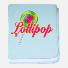 Text Lollipop Infant Blanket