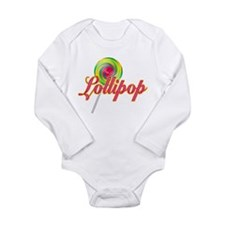 Text Lollipop Long Sleeve Infant Bodysuit