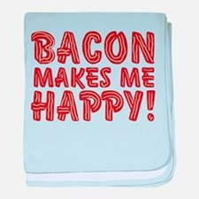 Bacon Makes Me Happy baby blanket