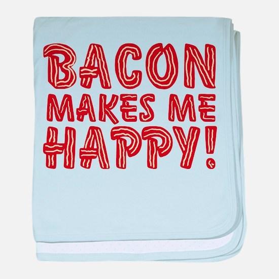 Bacon Makes Me Happy baby blanket