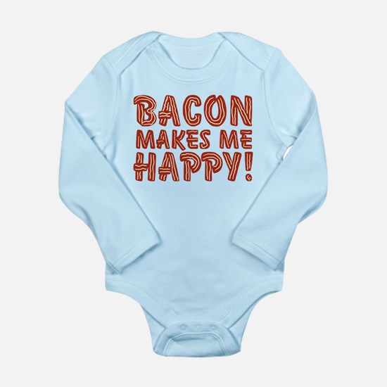 Bacon Makes Me Happy Onesie Romper Suit