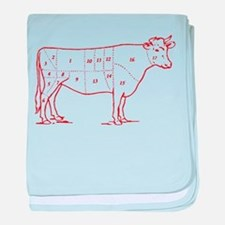 Retro Beef Cut Chart Infant Blanket