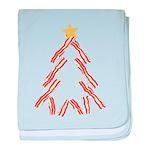 Bacon Christmas Tree baby blanket