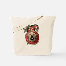 Christmas - Deck the Halls - Retrievers Tote Bag
