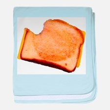 Plain Grilled Cheese Sandwich Infant Blanket