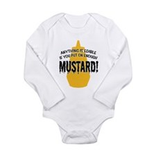Put on Enough Mustard Long Sleeve Infant Bodysuit