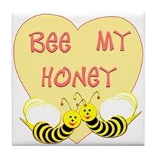 """Bee My Honey"" Tile Coaster"