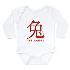 Chinese Zodiac The Rabbit Long Sleeve Infant Bodys
