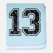 Retro 13 Number baby blanket