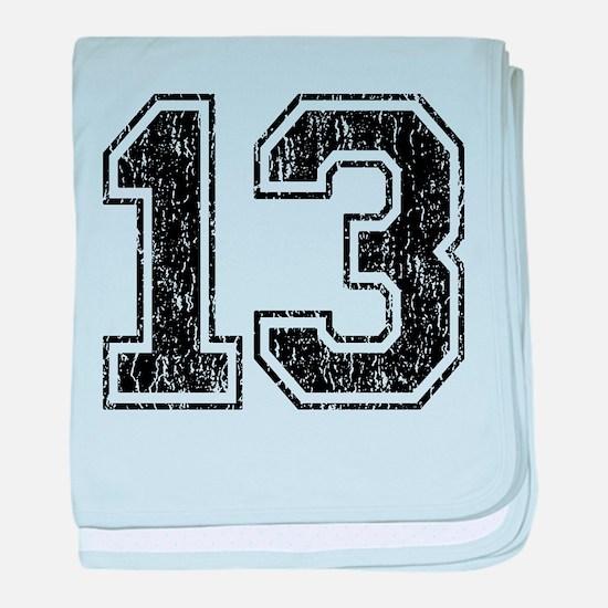 Retro 13 Number baby blanket