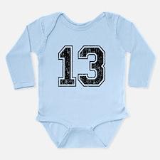 Retro 13 Number Long Sleeve Infant Bodysuit